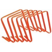Precision 15inch High Flat Hurdles Set Orange ( Set of 6 )