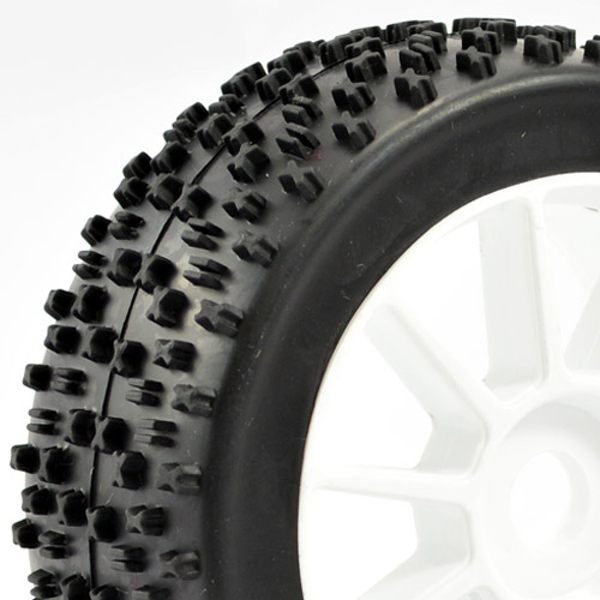 """Fastrax 1/8Th Premounted Buggy Tyres 'Maths /10 Spoke"""""""