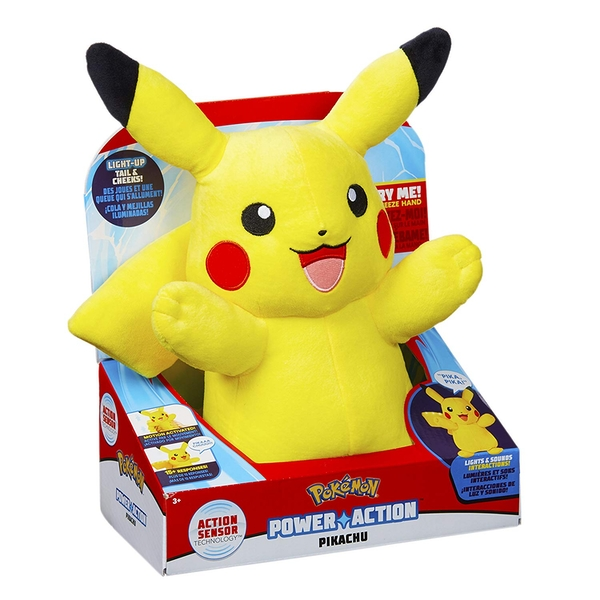 Pokemon Power Action Pikachu Plush