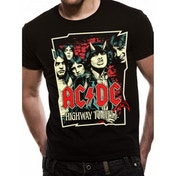 AC/DC - Highway Cartoon Men's X-Large T-Shirt - Black