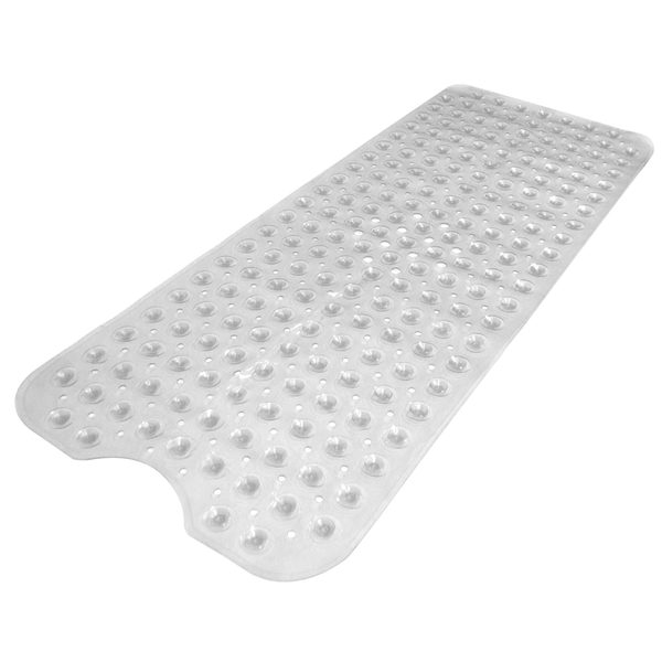 Non-Slip Extra Long Bath Shower Mat | M&W Clear New - Image 3
