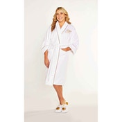 Golden Snitch Harry Potter Ladies White Fleece Robe No Hood