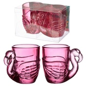 Flamingo  Glass Shot Glass Set of 2 90ml (Pack Of 6)