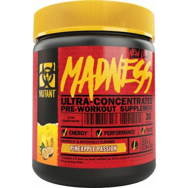 Mutant Madness 225g Pineapple Passion Pre Workout