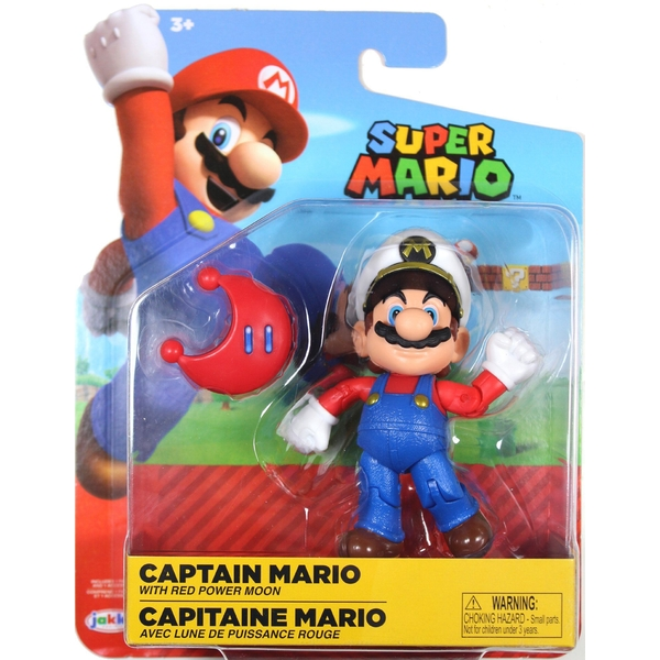 Captain Mario Red Power Moon (World Of Nintendo) Action Figure