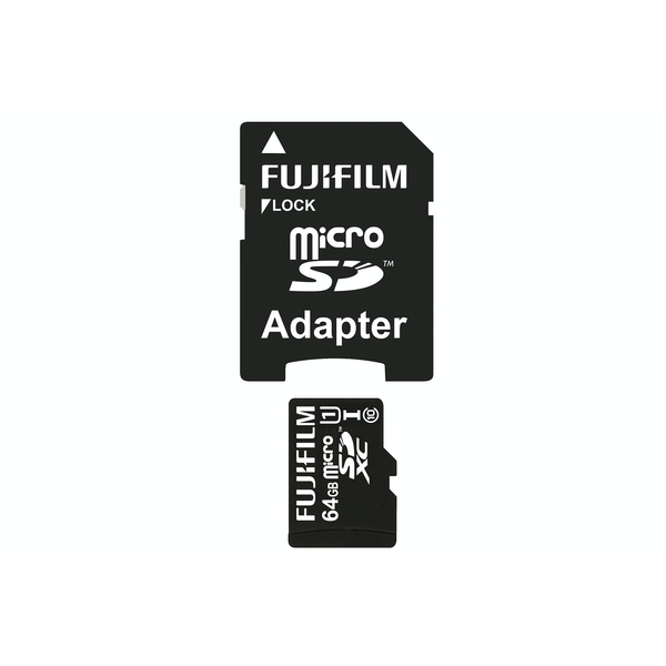 Fujifilm Micro SDXC 64GB UHS-I High Speed Professional Class 10 Memory Card inc Full Size SD Adapter