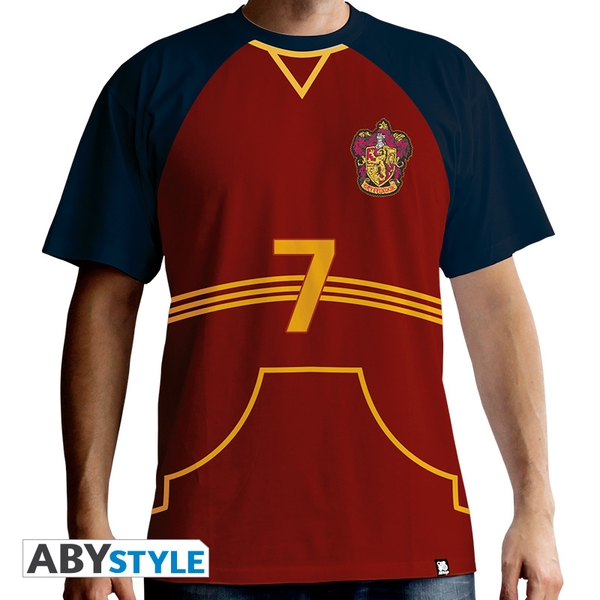Harry Potter - Quidditch Jersey Men's Large T-Shirt - Red
