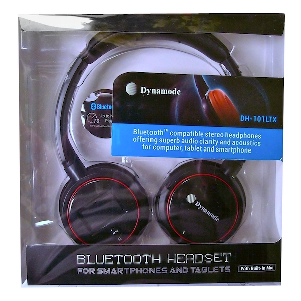Dynamode - Bluetooth Stereo Headphone with LCD Display and Built-in Microphone (Black)