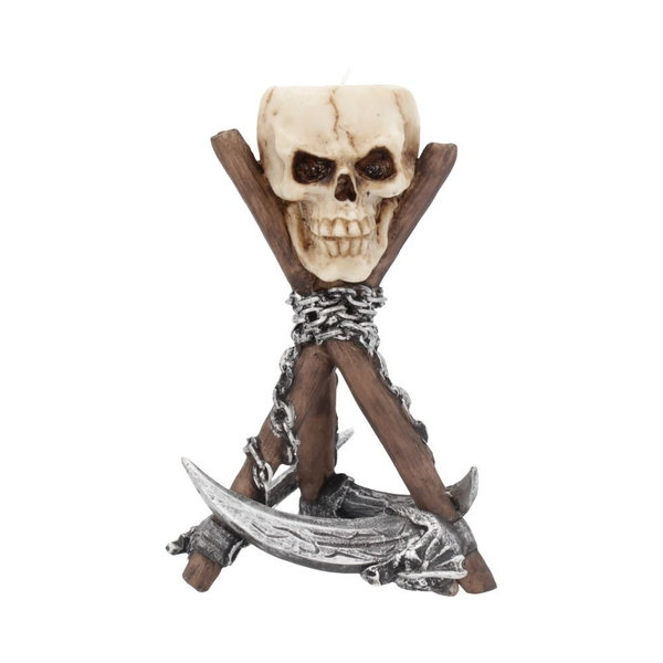Reapers Rest Skull Tealight Holder