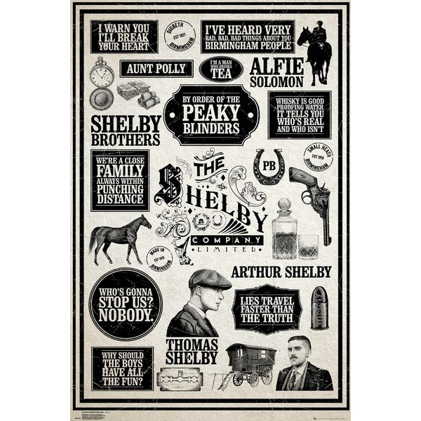 Peaky Blinders Infographic Maxi Poster