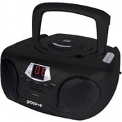 Groov-e GVPS713BK Boombox Portable CD Player with Radio Black UK Plug
