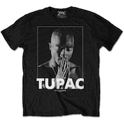 Tupac - Praying Men's Large T-Shirt - Black