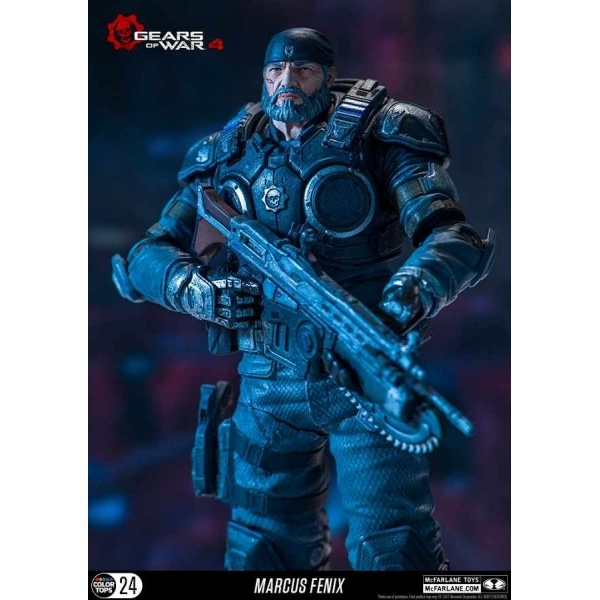 Ex Display Marcus Fenix Gears Of War 4 Mcfarlane Colour Tops Action Figure Used Like New