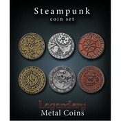 Steampunk Coin Set Legendary Metal Coins