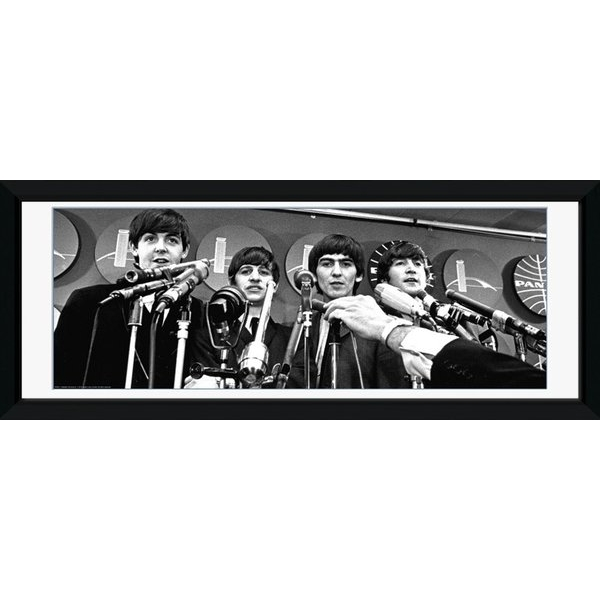 The Beatles Interview Framed Photographic Print