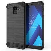 CASEFLEX SAMSUNG GALAXY A6 (2018) CARBON ANTI FALL TPU CASE - BLACK