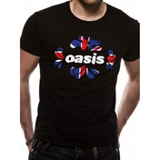 Oasis - Union Jack Unisex Small T-Shirt - Black