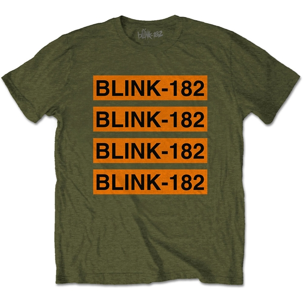 Blink-182 - Log Repeat Unisex Medium T-Shirt - Green