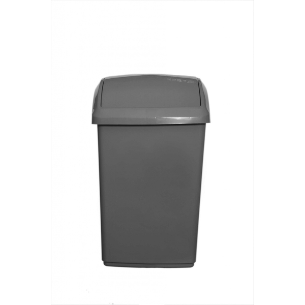 Whitefurze 30L Swing Lid Bin And Base Cream