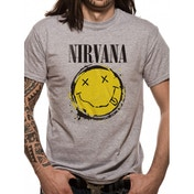 Nirvana - Smiley Splat Men's XX-Large T-Shirt - Grey