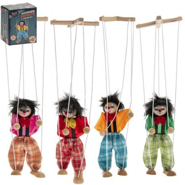 Wooden Retro Puppet Toys (1 Random Supplied)
