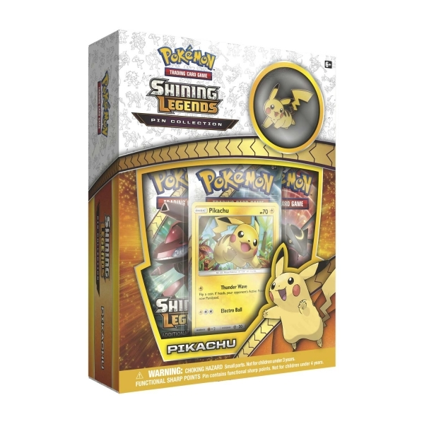 Ex-Display Pokemon TCG Shining Legends Pin Collection Pikachu Used - Like New