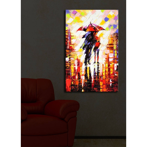 4570?ACT-19 Multicolor Decorative Led Lighted Canvas Painting