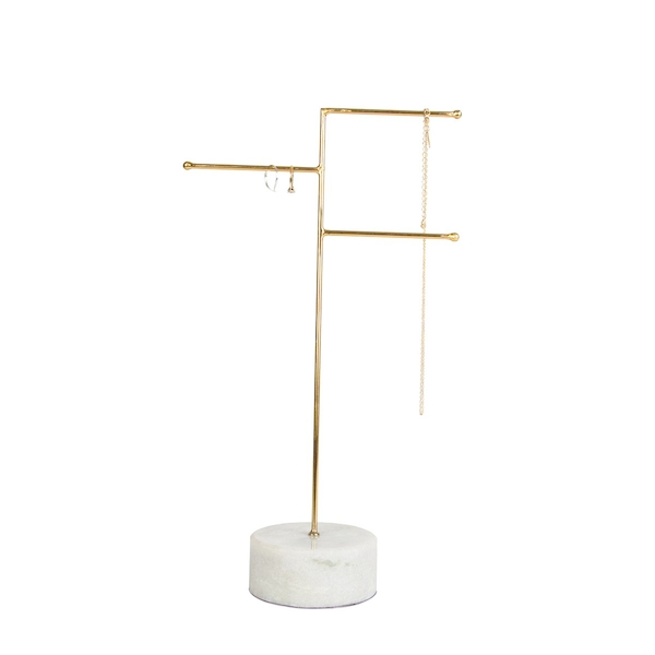 Sass & Belle Brass & Marble Jewellery Stand