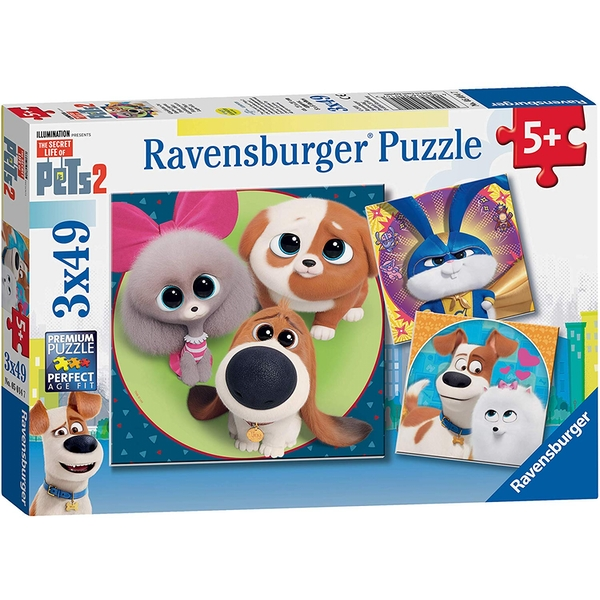 Ravensburger The Secret Life of Pets 2 - 3 x 49 Piece Jigsaw Puzzles