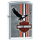 Zippo Harley-Davidson Eagle Wings Chrome Regular Windproof Lighter