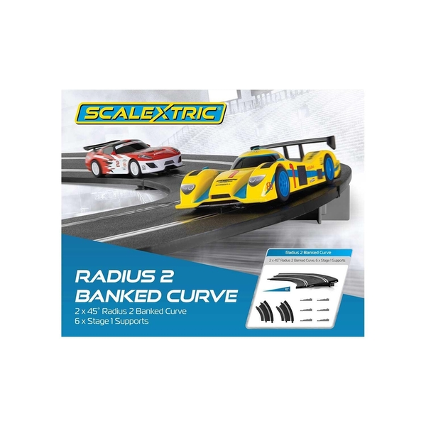 Banked Curve R2 45° Scalextric Accessory Pack