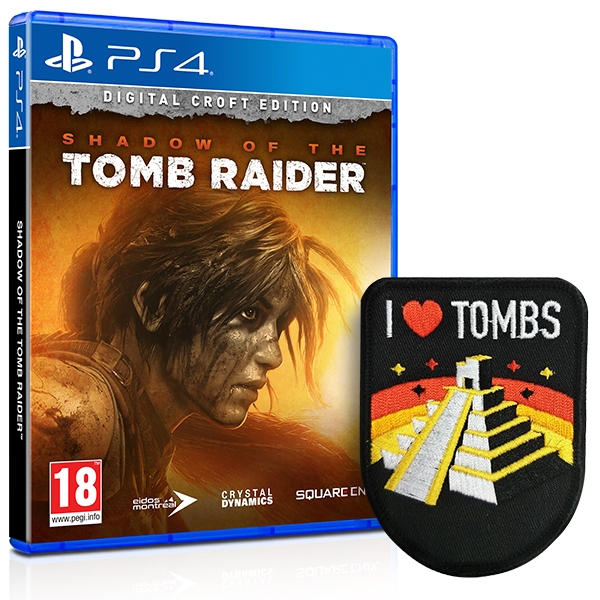 Shadow Of The Tomb Raider Croft Edition PS4 Game + I Love Tombs Patch