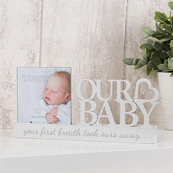 "4"" x 4"" - Celebrations Cut Out Photo Frame - Our Baby"