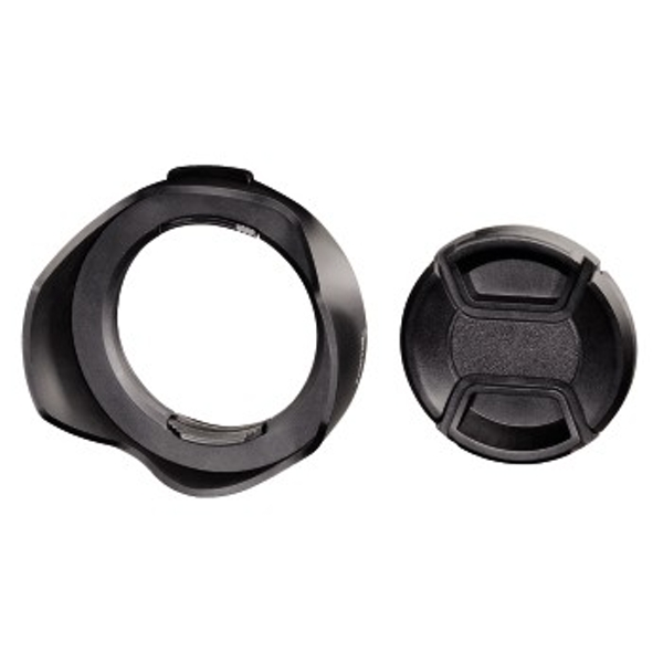 Image of Hama Lens Hood with Lens Cap, universal, 55 mm