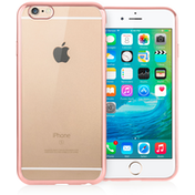 Caseflex iPhone 6 / 6s Electroplate TPU Gel Case - Rose Gold