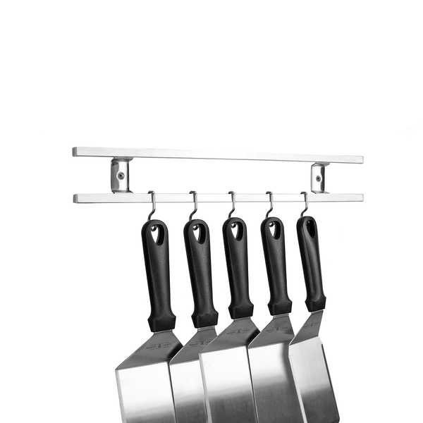 Stainless Steel Knife Bar with Utensil Hooks | M&W - Image 1