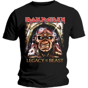 Iron Maiden - Legacy Aces Men's Large T-Shirt - Black