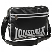 Lonsdale Striped Flight Bag Black & White