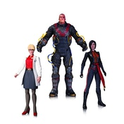 Electrocutioner, Lady Shiva, Harleen Quinzell (DC Comics) 3 Pack Action Figure