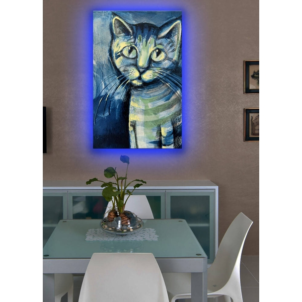 4570DACT-1 Multicolor Decorative Led Lighted Canvas Painting