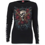 Lord Have Mercy Buckle Cuff Women's Medium Long Sleeve Top - Black
