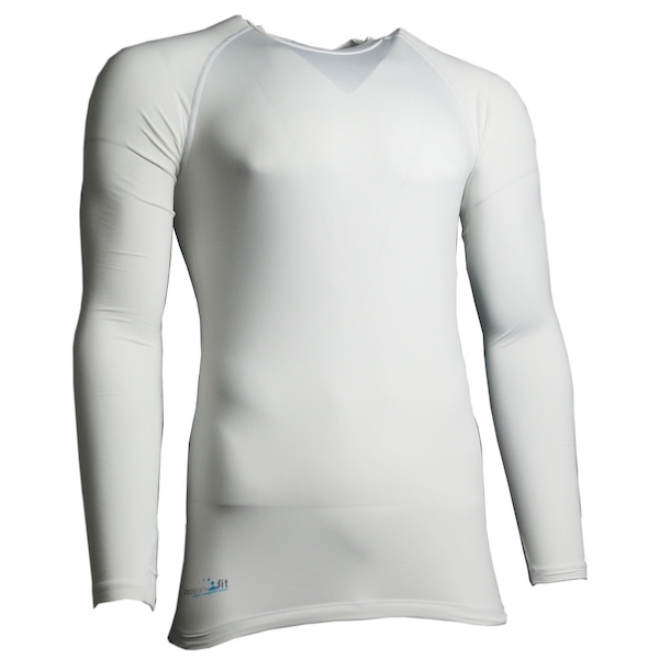 Precision Essential Base-Layer Long Sleeve Shirt Adult White - XS 32-34 Inch