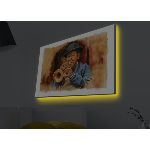 4570MDACT-005 Multicolor Decorative Led Lighted Canvas Painting