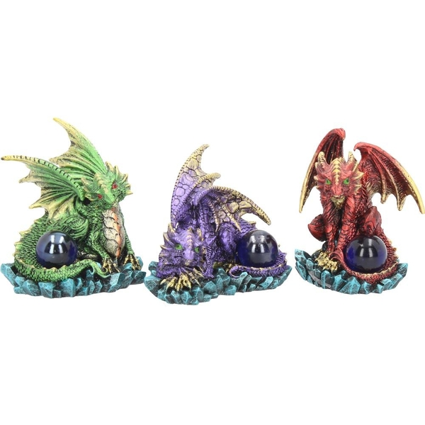 Watching Their Hoard (Pack Of 3) Dragon Figures