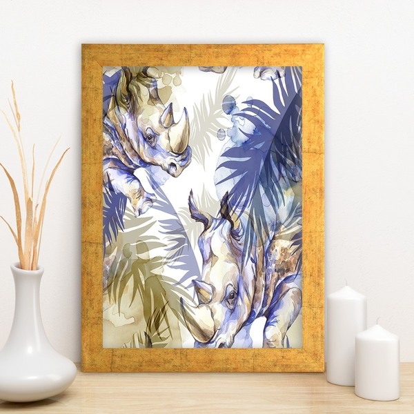 AC722741857 Multicolor Decorative Framed MDF Painting