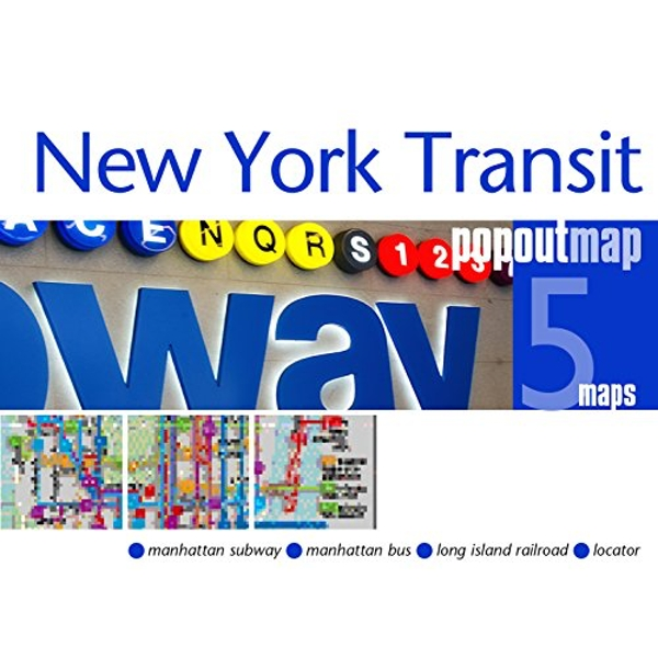 New York Transit PopOut Map  Sheet map, folded 2018