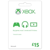 Microsoft Money (Gift Card) Fifteen 15 Pounds Xbox 360 & Xbox One