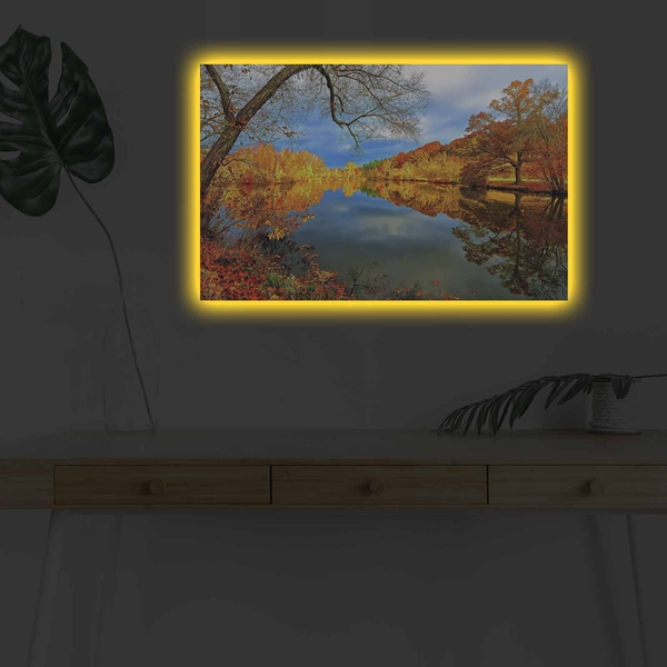 4570DHDACT-009 Multicolor Decorative Led Lighted Canvas Painting