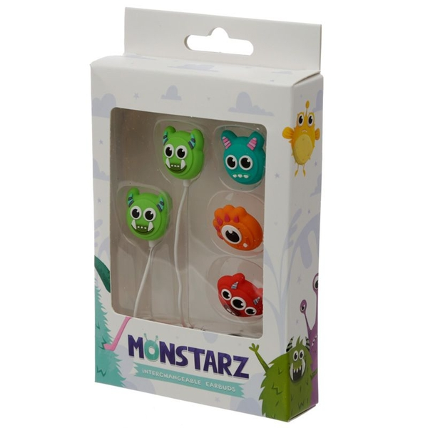 Monstarz Monster Set of 4 Interchangeable Earbud Earphones
