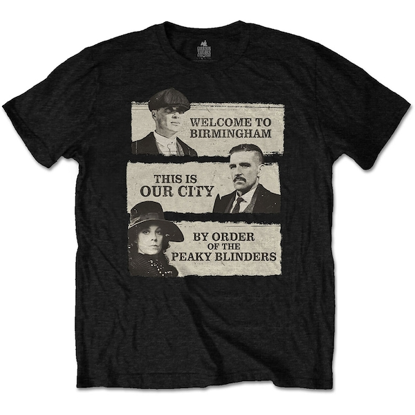 Peaky Blinders - This Is Our City Unisex Small T-Shirt - Black